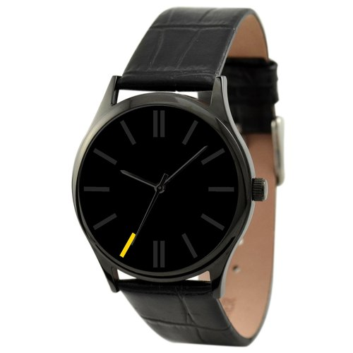 Simple Black Watch (yellow 7:00)