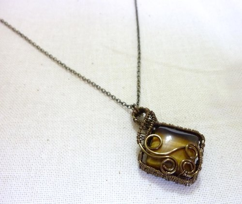 Bronze Tiger Eye Necklace