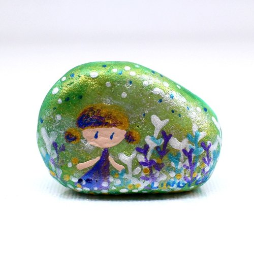 Fu police make child ‧ painted stone (small)