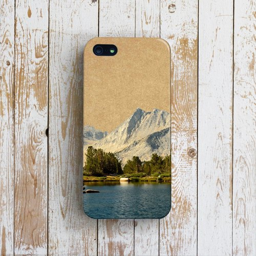 OneLittleForest - Original Mobile Case - iPhone 4, iPhone 5, iPhone 5c- alpine forest lake