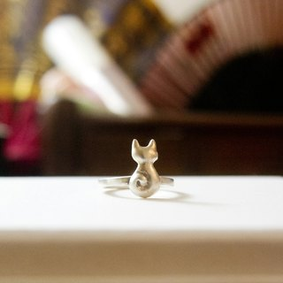 Cute Silver Dainty Little Cat Pinky Ring Cat Lover Gift For Her Lover Wife Mom Friend Christmas Birthday Anniversary Date by IONA SILVER