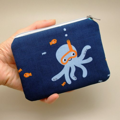 Zipper pouch / coin purse (padded) (ZS-166)