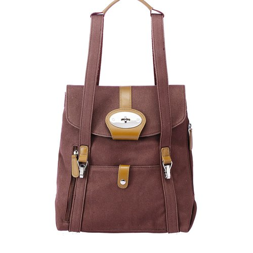 Amore Love plus Baker Jr. after with three 13-inch computer backpack - Coffee