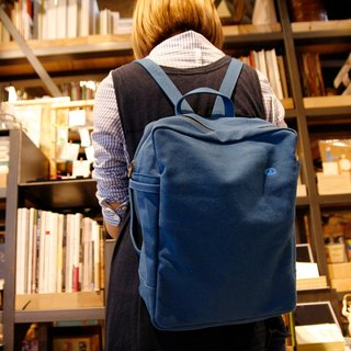 Mushroom MOGU / Canvas Backpack / Cobalt Blue / Miss Poker