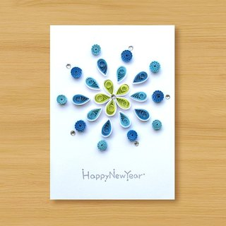 Handmade Roll Paper Card _ Fireworks _B ... New Year Greeting Card, Thank You Card, Universal Card