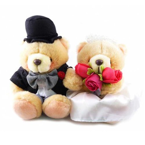 ◤ dear, I am willing to walk with you to grow old | FF 4.5 inch nap Bear Wedding Set