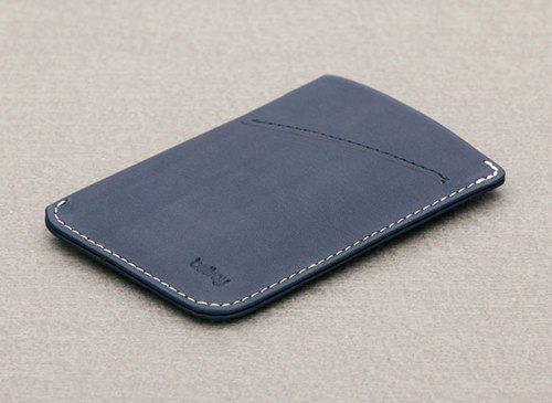 Australia Bellroy Card Sleeve High quality leather business card holder (BRY3007_Bluesteel) By plain-me