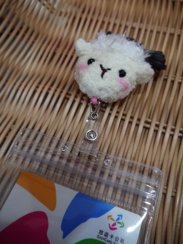 Retractable sleeve cotton candy animals - lamb