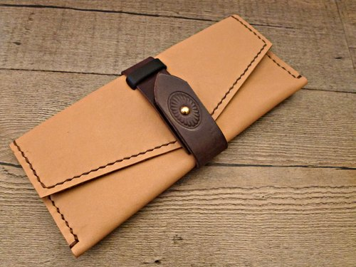 POPO│ primary │Outlet clearing │ long leather folder