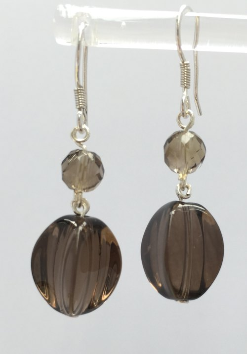 Fashion generous gift of choice - E0326- own production - natural stones - citrine 925 sterling silver earrings