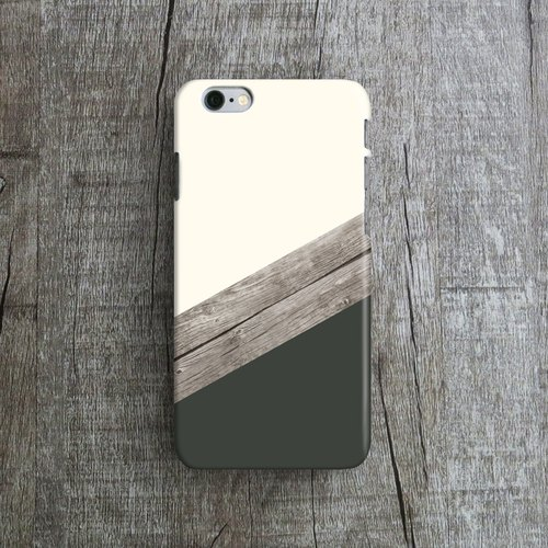 Charcoal, Wood Collage- Designer iPhone Case. Pattern iPhone Case. One Little Forest