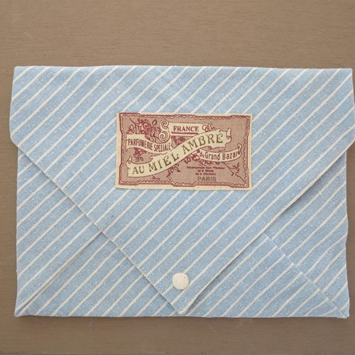 [Take away] container envelope Soft Case (blue stripes) (only this one)