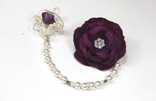 * Odd * gorgeous flower house --- honorable fashion modeling pacifier clip crystal diamond money order special section