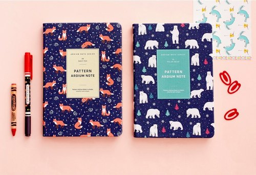 ARDIUM totem Notebook - Deep Blue Fox (left)