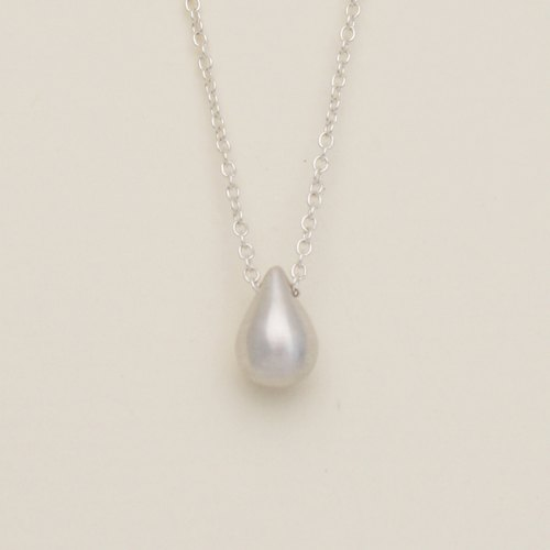 Minifeast Silver|Droplet Necklace