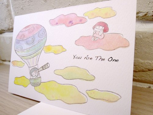 Small mushroom card -You are the One