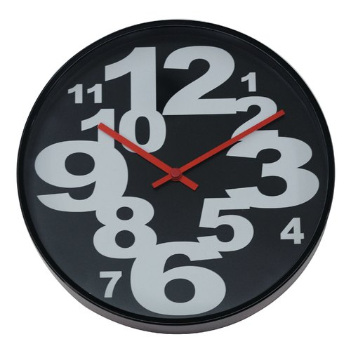 "Modern Number "" Black "" (white word clock)"