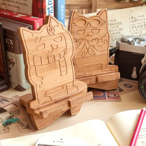 [Valentine's Day Valentine's Day] [cat couple] rechargeable mobile phone holder - single