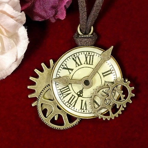 Clock gear necklace _Steampunk