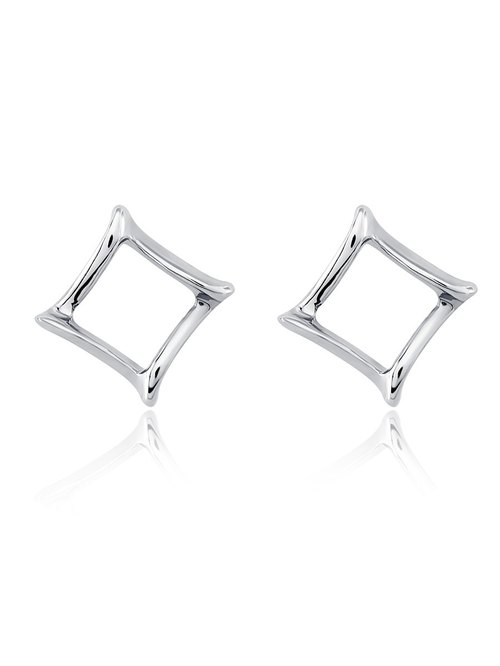Fine white steel earrings - turning Transition | 8AD00026