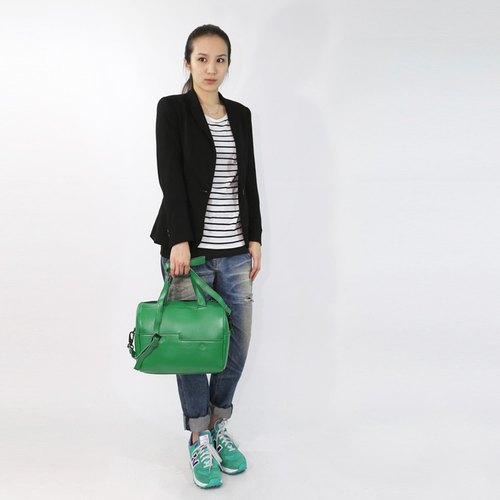 Passion Boston bag green hand / shoulder / hatchback
