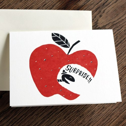 Congratulations on the universal card SURPRISE! Apple bite