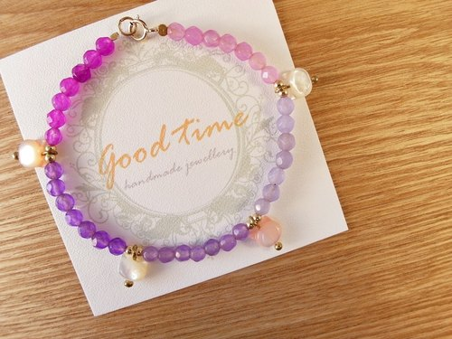 | Touch of moonlight | Meng Meng small head - natural rainbow stone bracelet