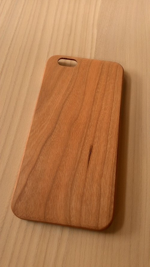Micro forest. iPhone 6 pure wood Wooden Phone Case - Cherry -BB05-U1007 mobile phone holder wooden gifts