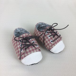 Va handmade children's shoes series pink plaid shoes