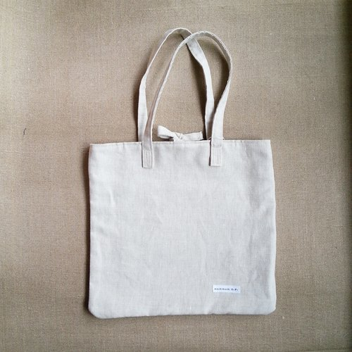 Square bag - colorless cotton