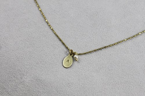 Ohappy Knocking Series | Single Brass Necklace