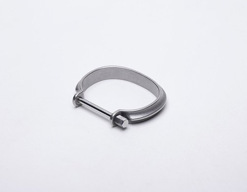 Drilling Lab_Clamp Bracelet 鎖·環 - 銀色