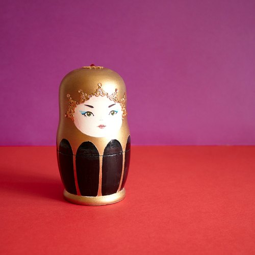 Handmade Matryoshka Jewelry Box, Home Decoration