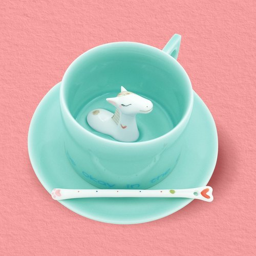 Three shallow original to dream for the horse coffee cup Meng Ma creative gift birthday cup Zodiac special ceramic cup