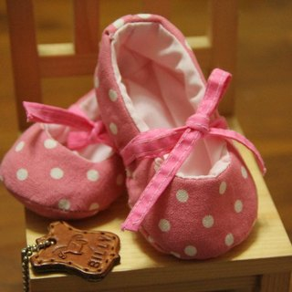 [Pinkoi Museum of billy] [K112_300 ballet doll baby shoes material bag] applies 0--12 months baby, cloth amount to do two pairs