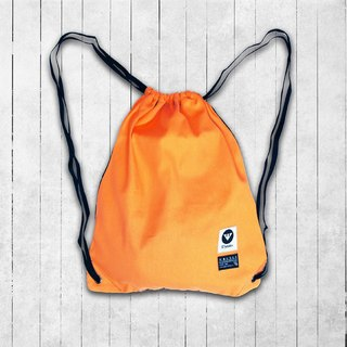 [Magic Orange] magic fluorescent orange handmade canvas pouch
