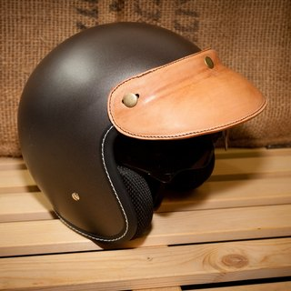 Dreamstation leather Pao Institute, handmade leather helmet visor.