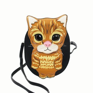 Innocent Big Eyed Tabby Cat Childlike Style Crossbody Bag/Animal Bag Spot Sold - Cool Music Village