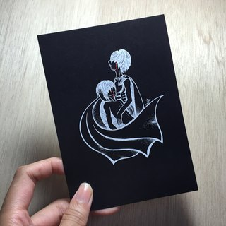 Gemini negative Postcards