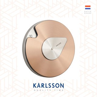 Karlsson, Wall clock Drop w. steel brushed copper 銅色設計師Philipp Gunther 時鐘