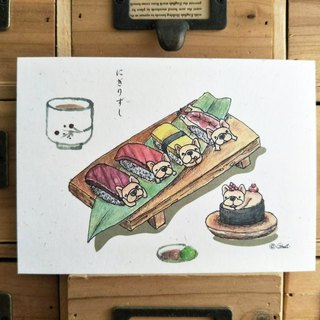 Thick Pound Postcard - Sushi Dharm