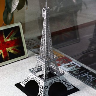 Dong Qi metalworking] [OPUS Eiffel Tower in Paris, France Building Toys Models / metal customized / metalworking Rachel / installation art / spatial arrangement (Star Silver)