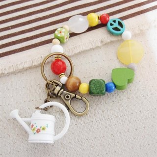 Tian mind - Metal Plant Waterer beaded bracelet key ring