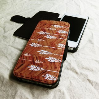 Wooden Tribal Arrows, - Designer,iPhone Wallet,Pattern iPhone wallet