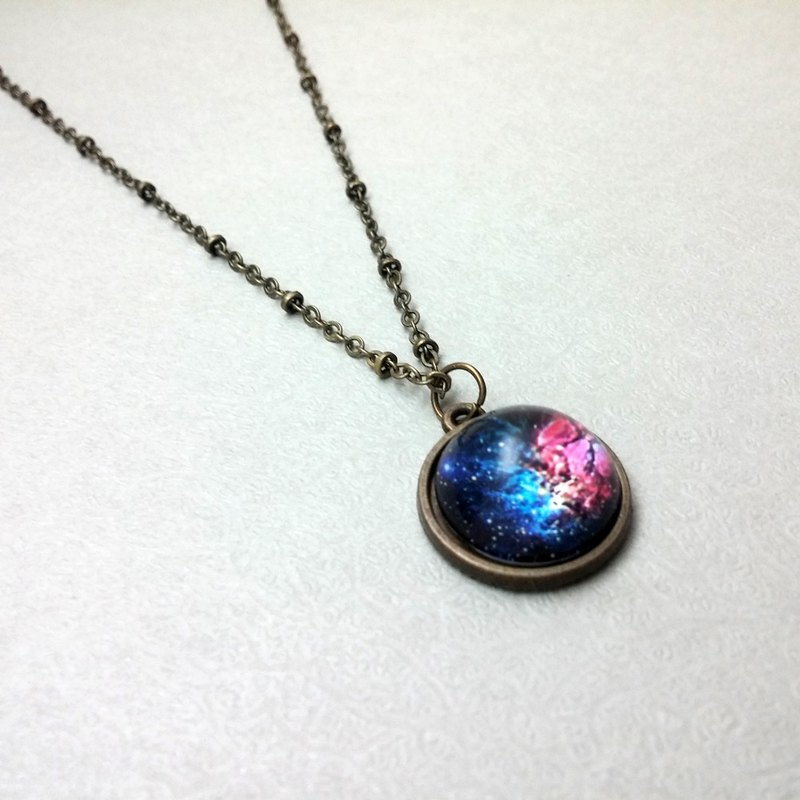 ♥ HY ♥ handmade 16mm x time Bao Shi Xinghai hemisphere bronze necklace