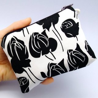 Zipper wallets, card package, Yao Shibao, headset kits, small objects pack (Black Rose) (ZS-18)