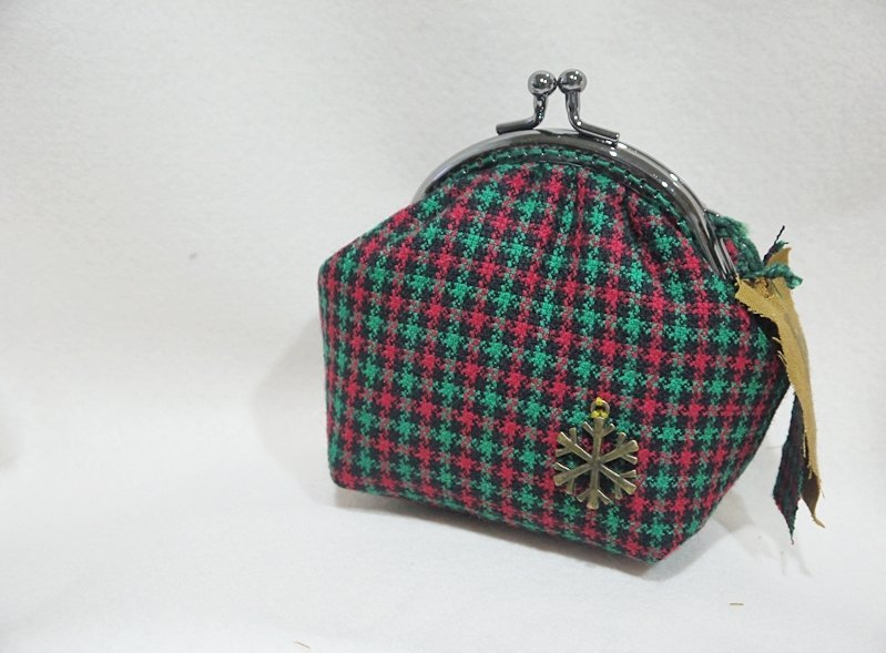 Change mouth gold package + Christmas - Classic Plaid - red and green with - +