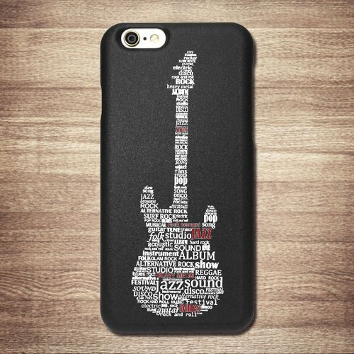 Jazz Rock [-] black electric guitar shell, iPhone 6,6Plus Phone Case