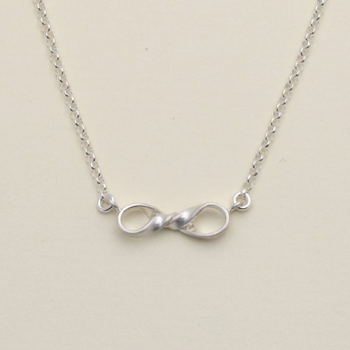 Minifeast Silver|Mini Infinity Necklace