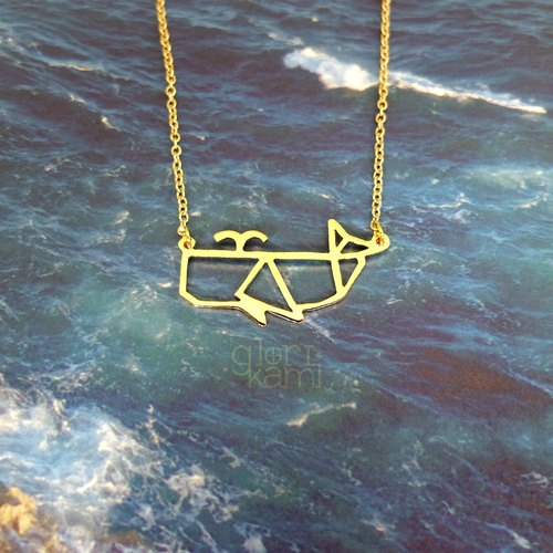 Glorikami Whale Origami Necklace